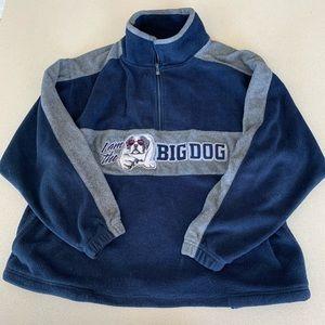 3/$15!! Big Dog Polar dog blue zip up fleece